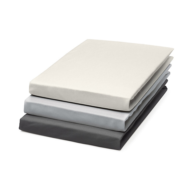 Fitted Sheets Made of Jersey Anthracite 140 x 200 cm