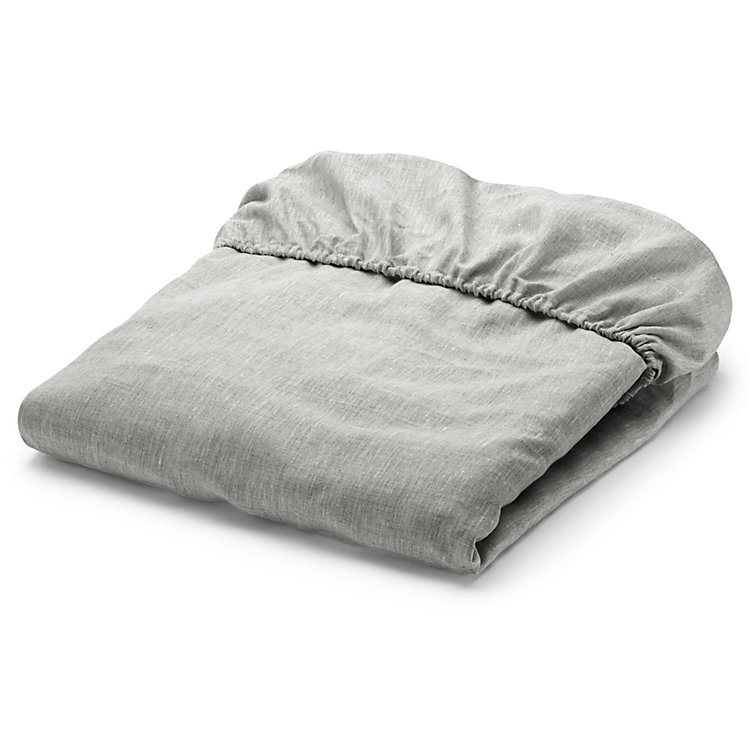 Fitted Sheets Made of Linen Natural 100 × 200 cm
