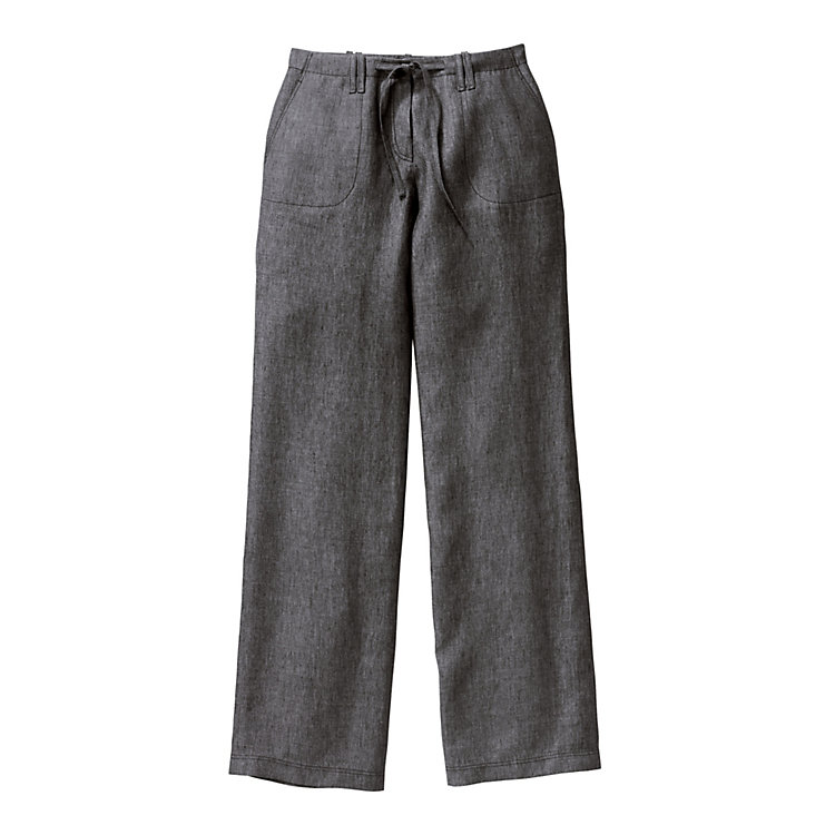 Flemish Linen Ladies' Trousers Charcoal