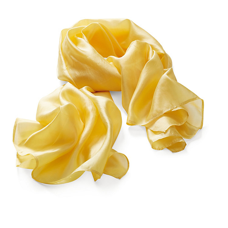 Folkdays Silk Scarf, Yellow