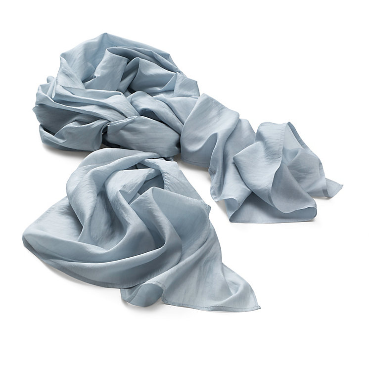 Folkdays Silk Scarf, Light Grey