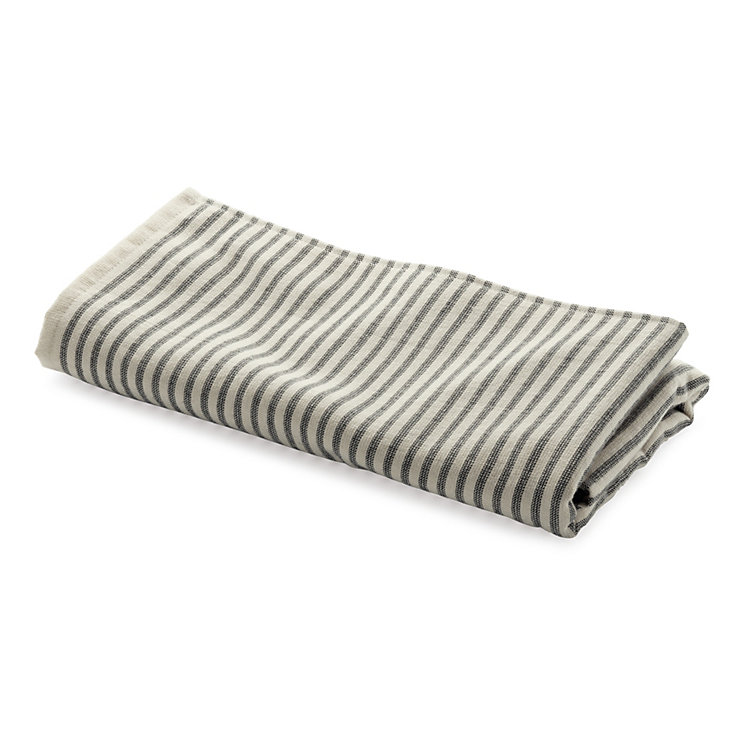 Framsohn Striped Hair Towel Fine Stripes
