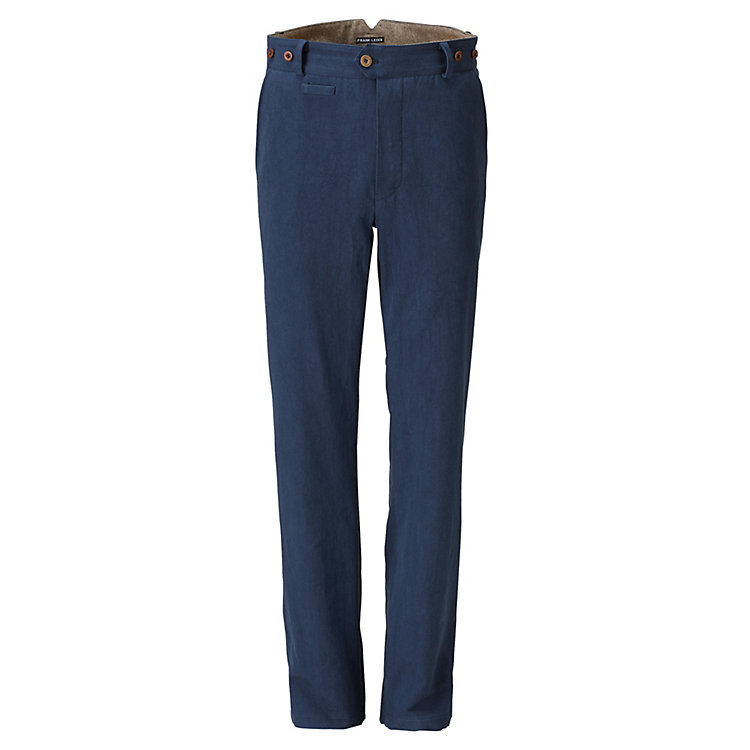 Frank Leder Men's Trousers Dark Blue