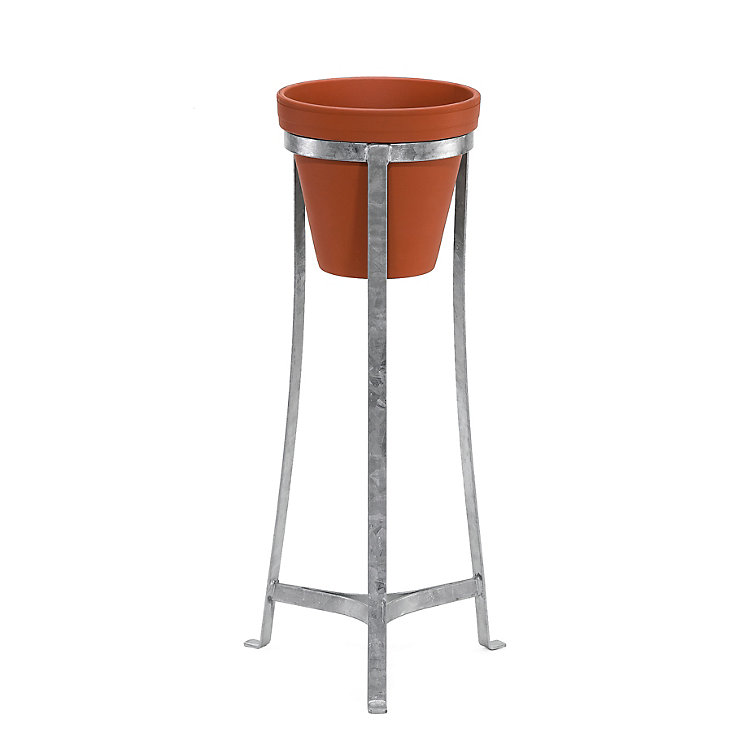 Galvanized Steel Flower Pot Stand