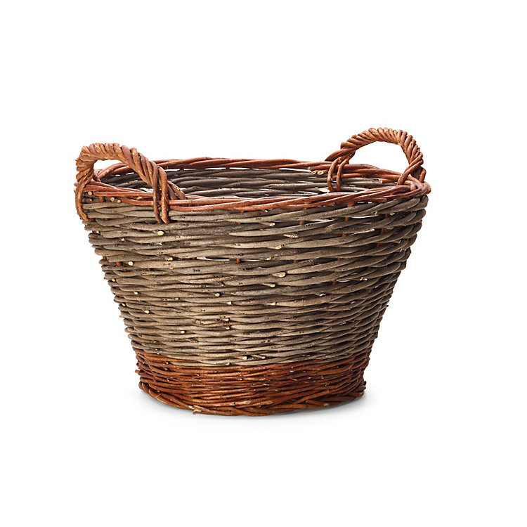 Garden Basket Made of Robinia and Willow Small