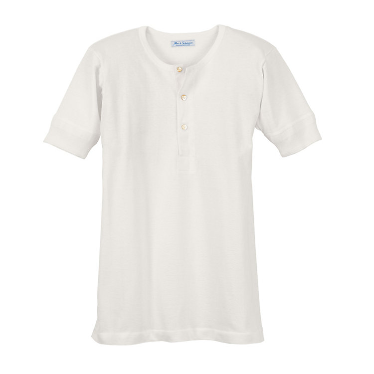 Gentlemen's 1/2 Arm Jersey Shirt White
