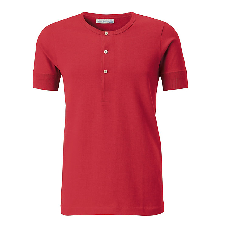 Gentlemen's 1/2 Arm Jersey Shirt Red