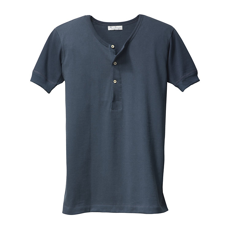Gentlemen's 1/2 Arm Jersey Shirt Dark Blue
