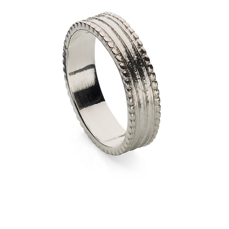 Goethe Finger Ring Made of Silver 18 mm