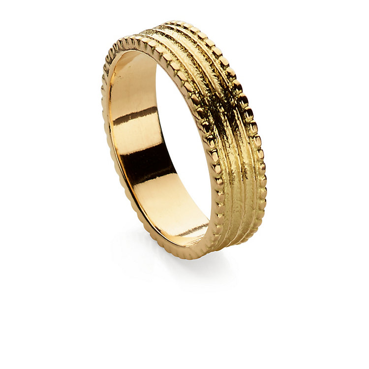 Goethe Fingerring Gold 17 mm Innendurchmesser