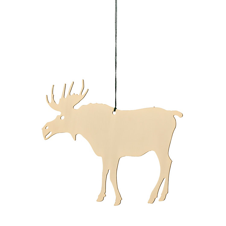 Gold-Plated Brass Pendant, Elk