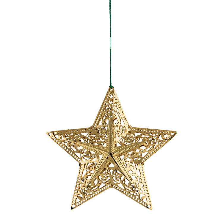 Gold-Plated Brass Sculptural Star