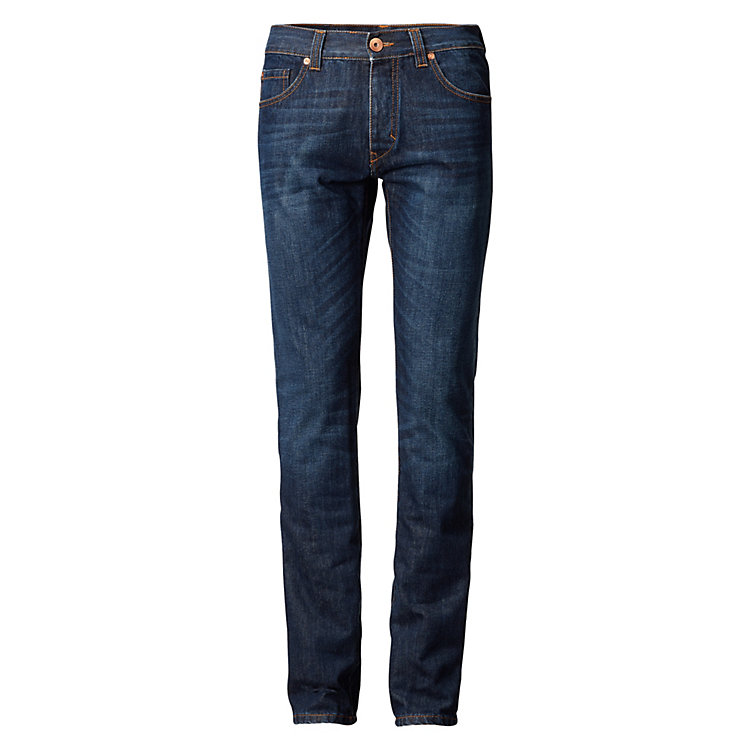 Goodsociety Herrenjeans Slim Straight, Blau