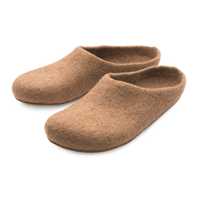 Gottstein Felt Slippers out of Camel Hair