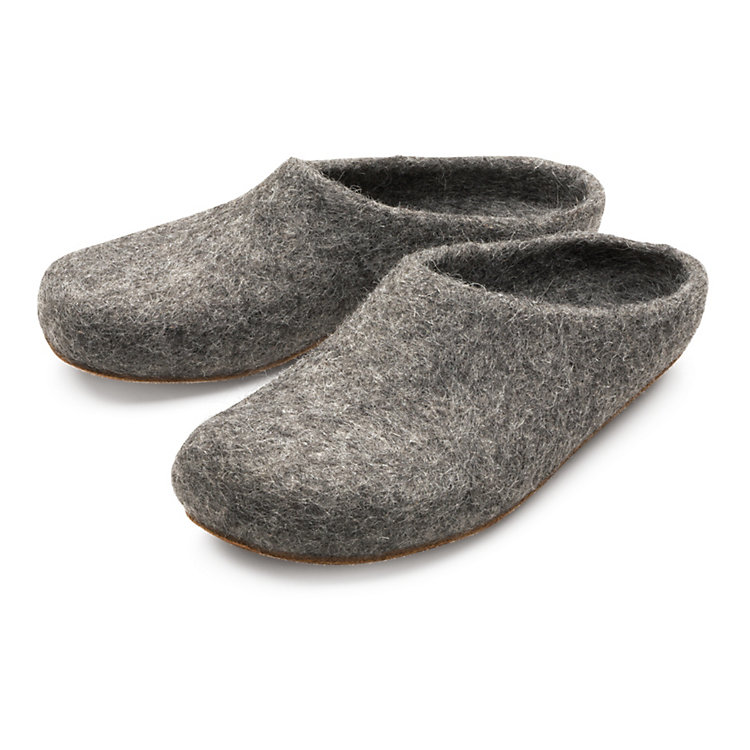 Gottstein Tiroler Steinschaf Felt Slipper, Grey