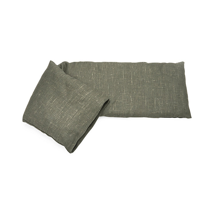 Grain Pillow Filled with Wheat and Lavender Grey-Green