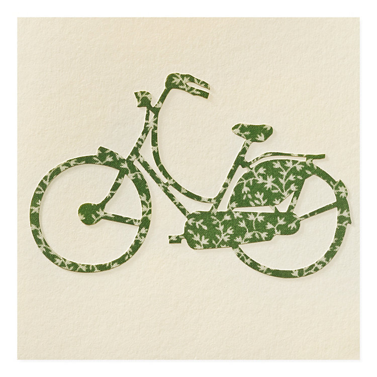 Greeting Card with Paper Cutting Bike