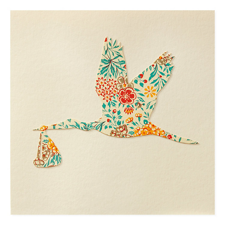 Greeting Card with Paper Cutting Stork