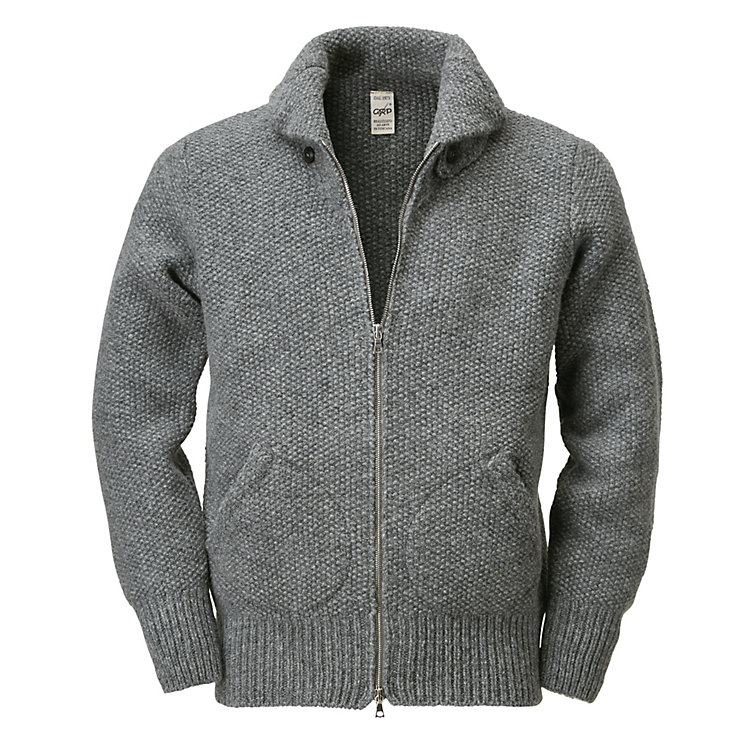 GRP Men's Knit Blouson Grey
