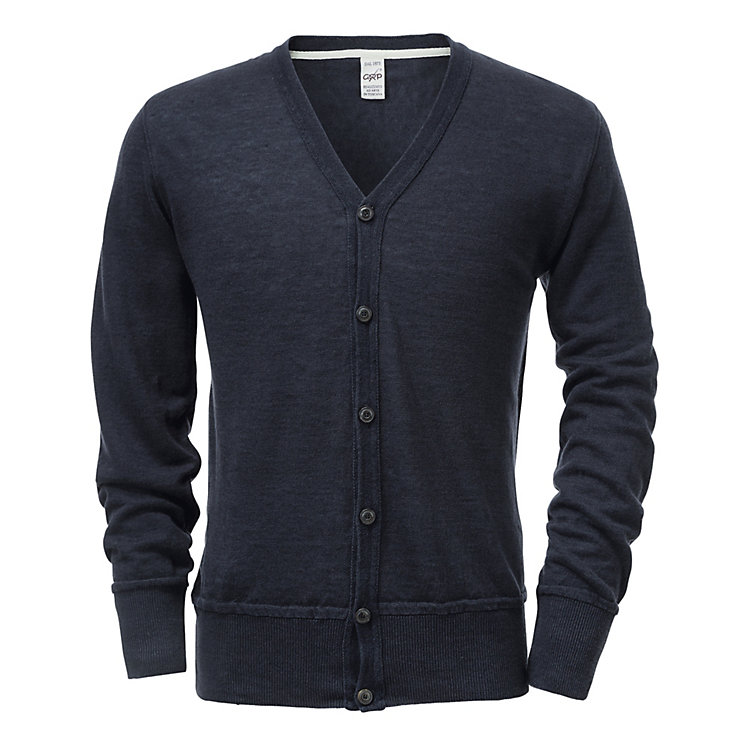 GRP Men's Linen Cardigan Blue