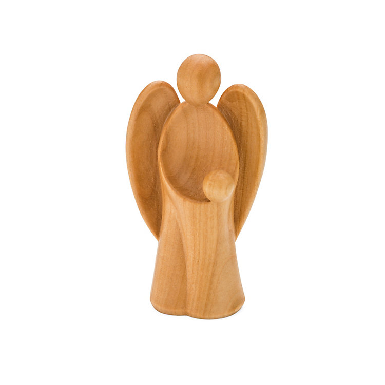 Guardian Angel Made of Cherry Wood