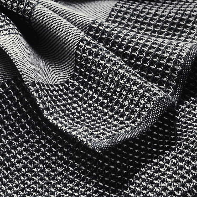 Guest Towel Waffle Weave Made of Half Linen Black