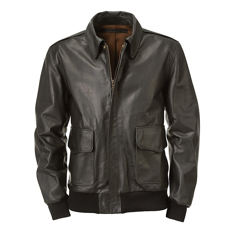 Hack Cow's Leather Men's Bomber Jacket Black