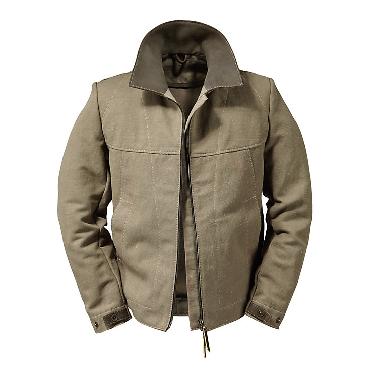 Hack Sailcloth Jacket, Green/Beige
