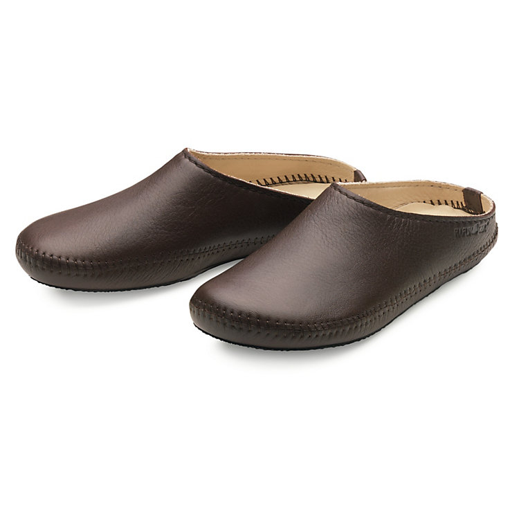 Haflinger Elk Leather Slipper Dark brown