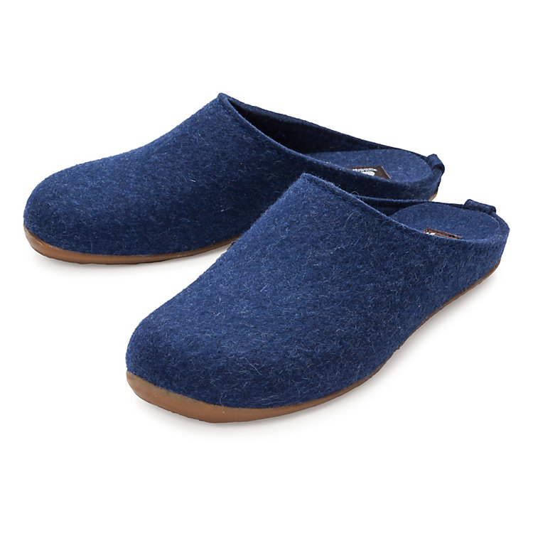 Haflinger Felt Slipper Blue