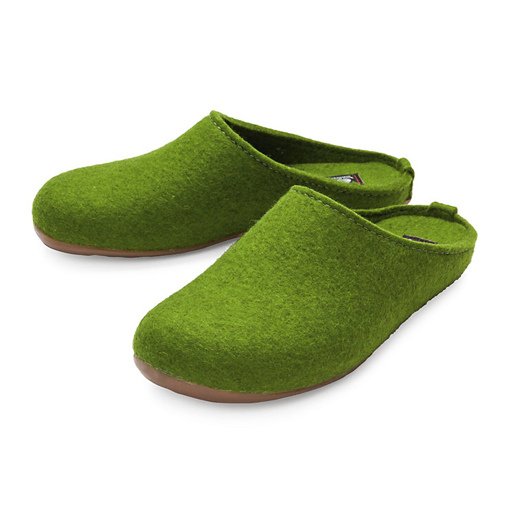 Haflinger Felt Slipper, Green