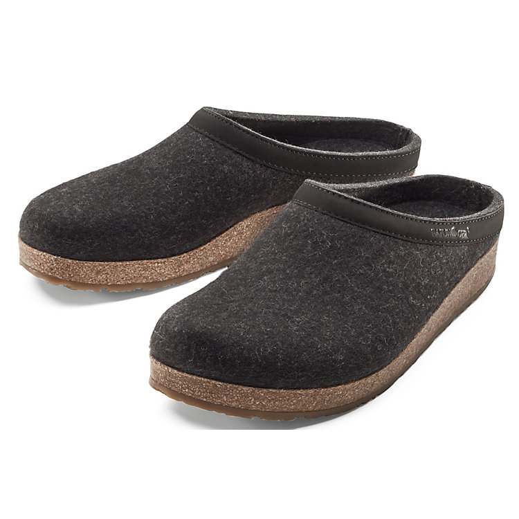 Haflinger Wool Felt Slipper Anthracite