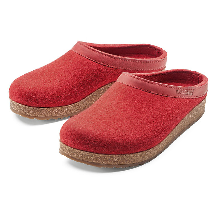 Haflinger Wool Felt Slipper, Red
