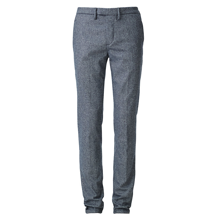 Haikure Men's Woollen Chino Blue-Melange