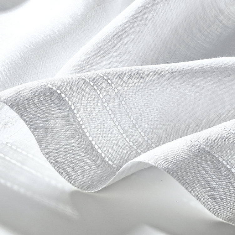 Half Curtain Linen Voile Wide 180 cm Height 60 cm