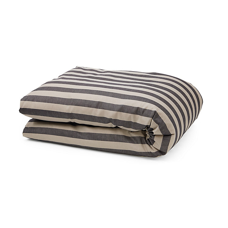 Half Linen Bed Covers 135 x 200 cm Striped