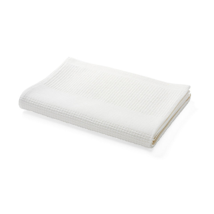Half-Linen Honeycomb Bath Towel White