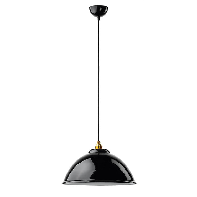 Half Spherical Enamel Pendant Light Large - Ø 34 cm