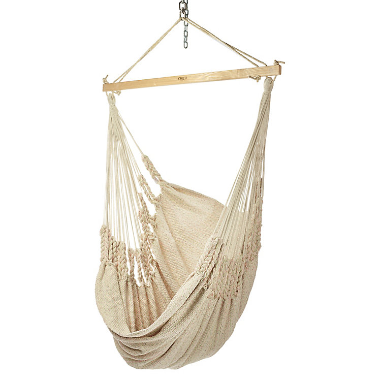 Hammock Chair in Cotton Beige