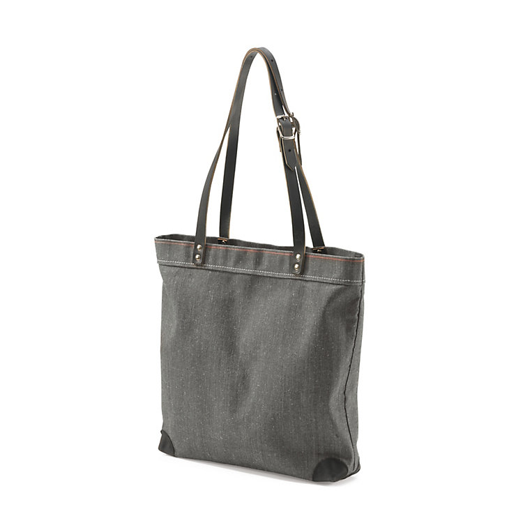 Handbag Made of Canvas, Anthracite