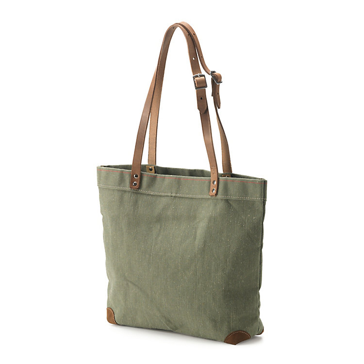 Handbag Made of Canvas Green
