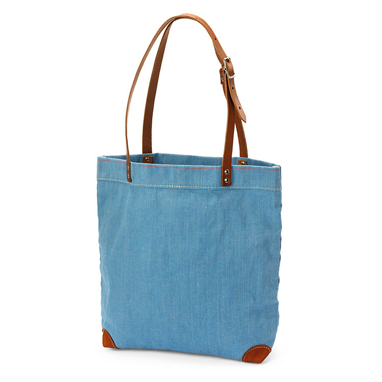 Handbag Made of Canvas Light Blue