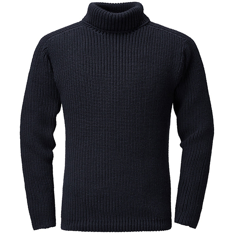 Hannes Roether Herrenpullover Patentstrick Navy