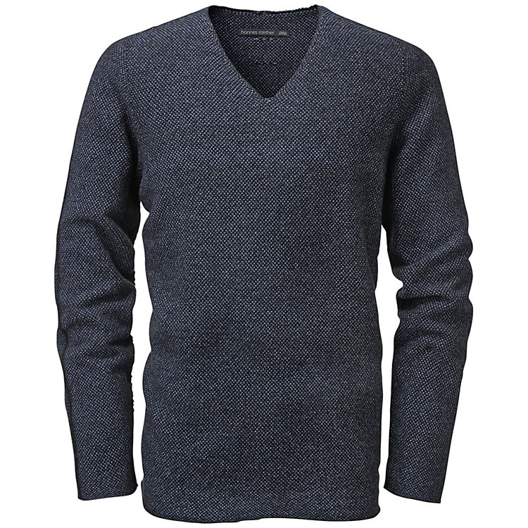 Hannes Roether Herrenpullover V-Neck Grau