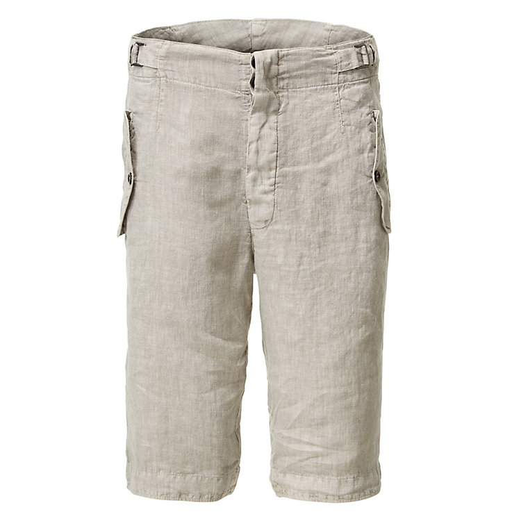 Hannes Roether Men's Bermuda Shorts Linen Grey
