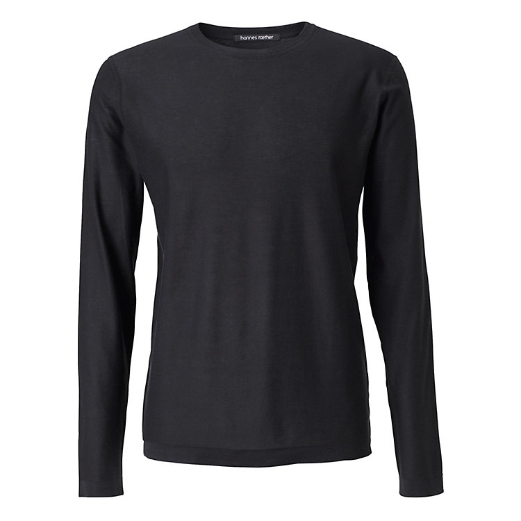 Hannes Roether Men's Long Sleeve Shirt Black