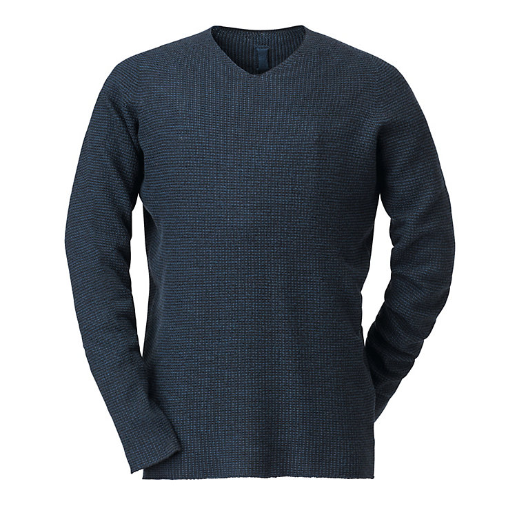 Hannes Roether Men's Merino Jumper Blue