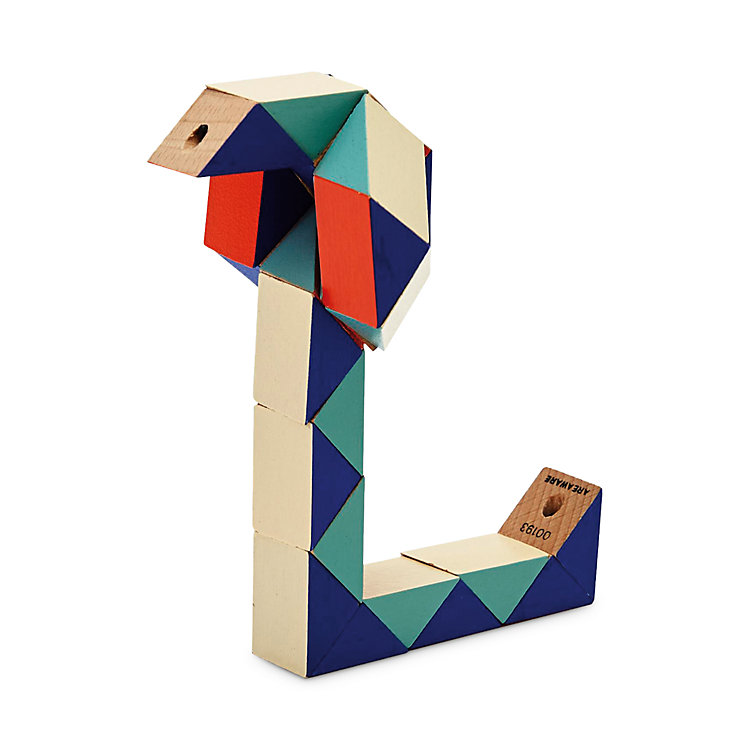 Holzfiguren Snake Blocks Rot / Blau