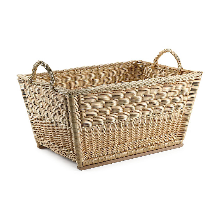 Honeycomb Weave Wicker Basket