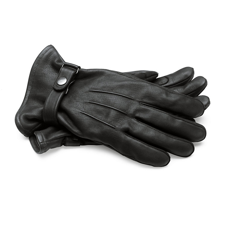 Horse Leather Men's Gloves, Black